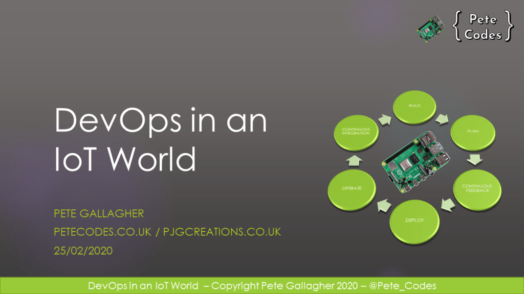 DevOps in an IoT World – Title Slide