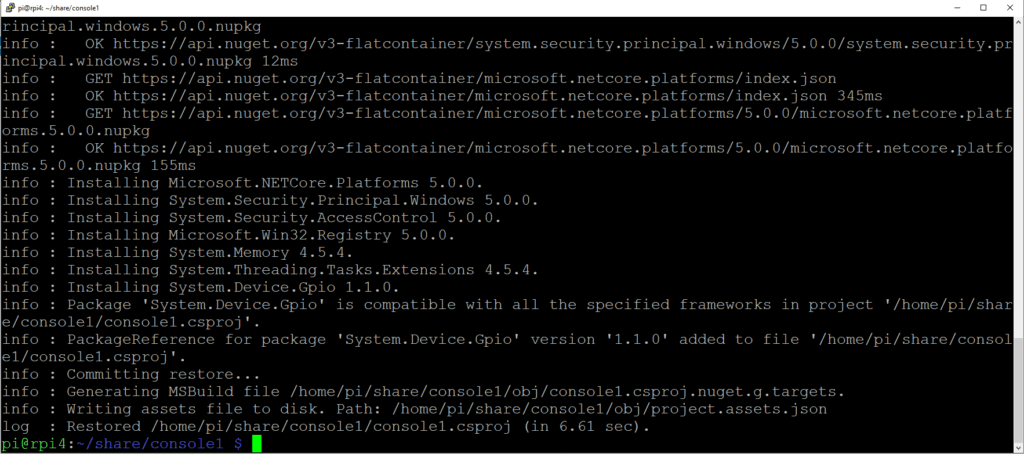 Add GPIO NugeT Package