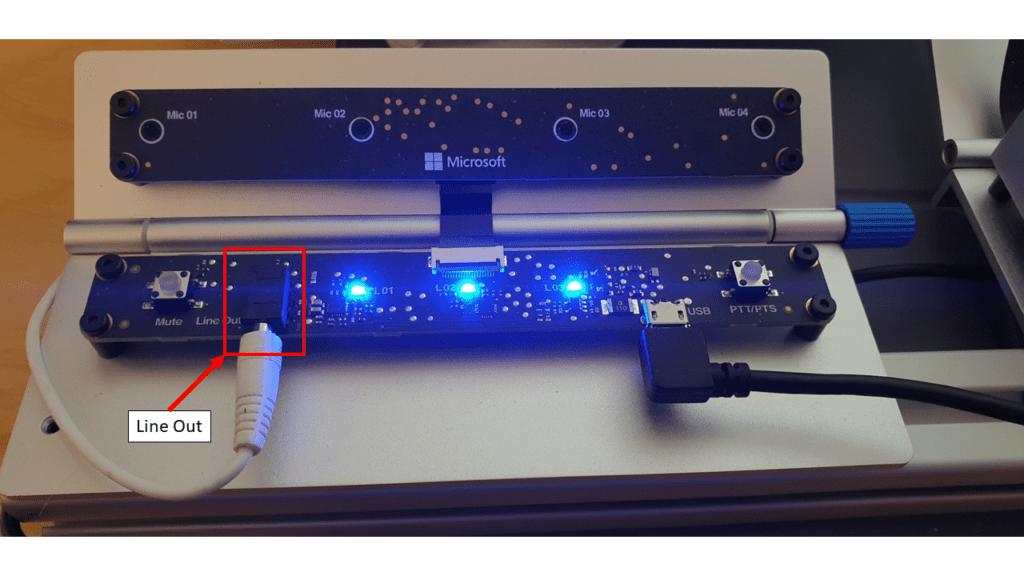 Azure Percept Audio - Line Out