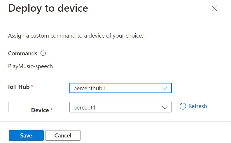Azure Percept Studio - Deploy to Device