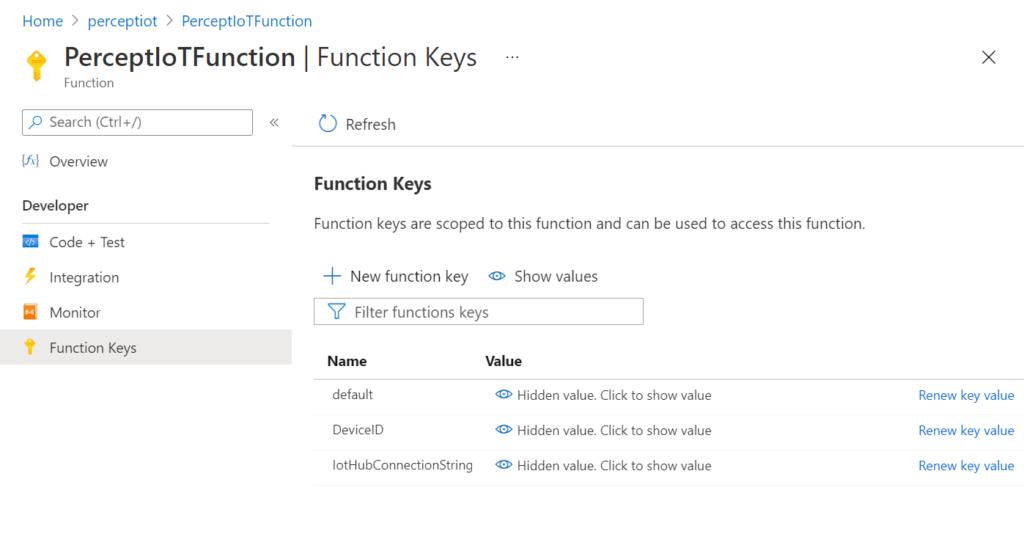 Azure Function - Function Keys