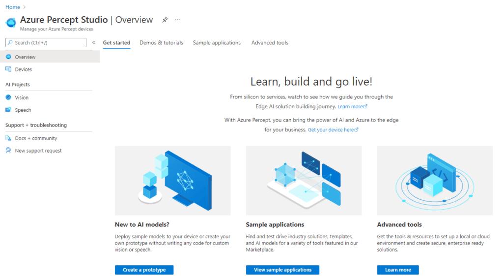 Azure Percept Studio - Overview