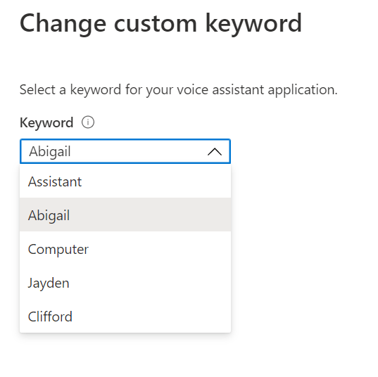 Azure Percept Audio - Change Custom Keyword