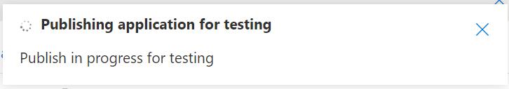 Speech Studio - Publishing for Testing