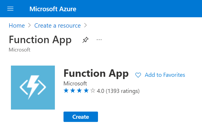 Azure Function App - Create