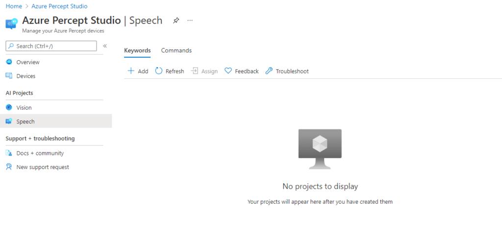 Azure Percept Studio - Speech