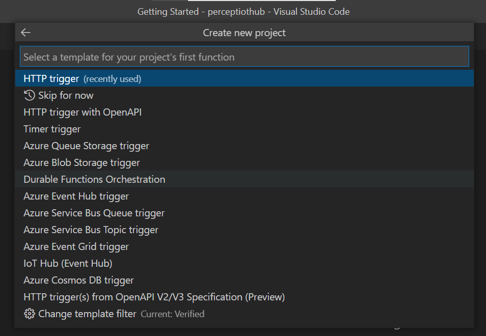 Azure Function - Trigger Choice