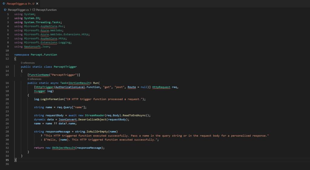 Azure Function - Original Code
